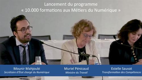 Lancement du programme « 10.000 formations aux Métiers du Numérique »